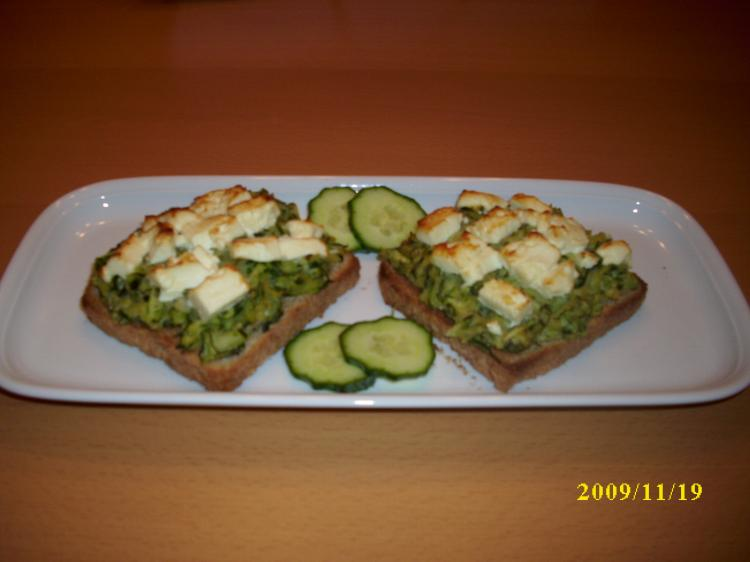 Zucchini - Toasts (GG) | Ein Kochmeister Rezept