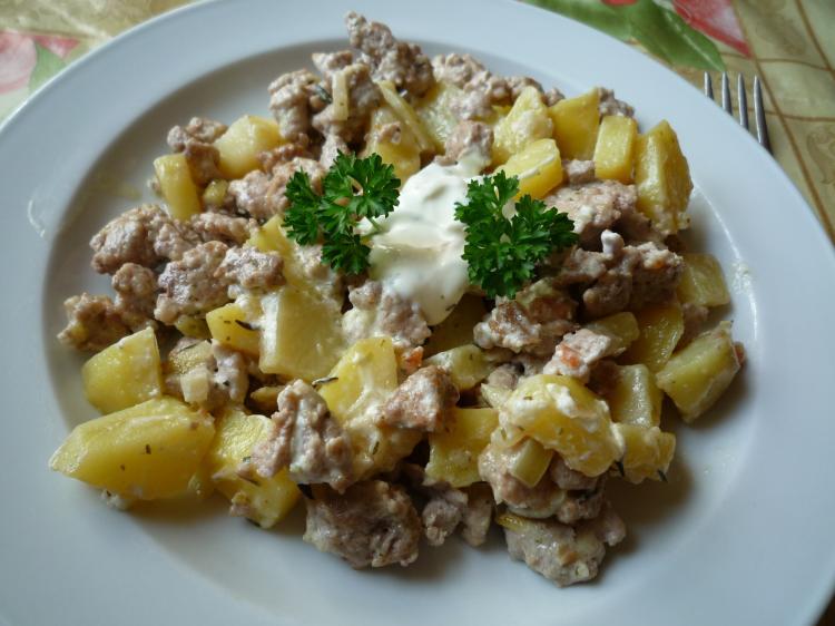 Rezept Kartoffel Hackfleisch deftige kartoffel hack pfanne ein kochmeister rezept