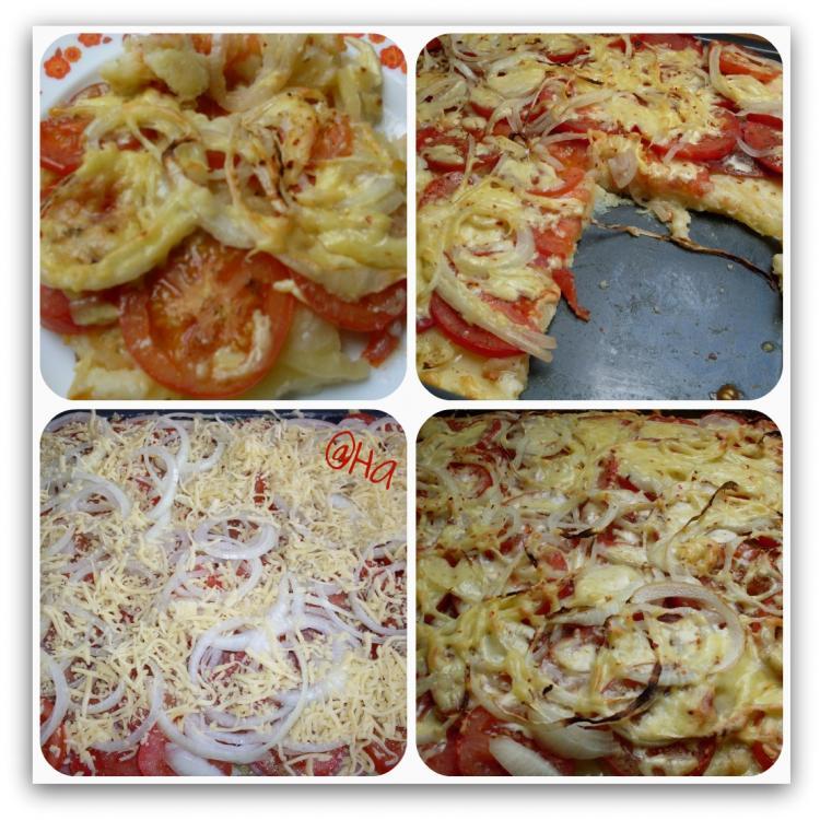 kartoffel pizza mit paprika und tomate ein kochmeister rezept. Black Bedroom Furniture Sets. Home Design Ideas