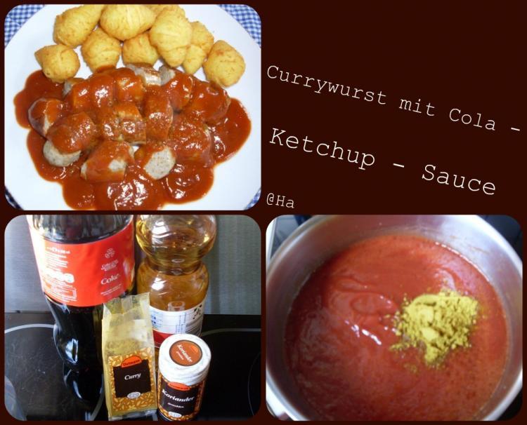 currywurst mit cola ketchup sauce ein kochmeister rezept. Black Bedroom Furniture Sets. Home Design Ideas