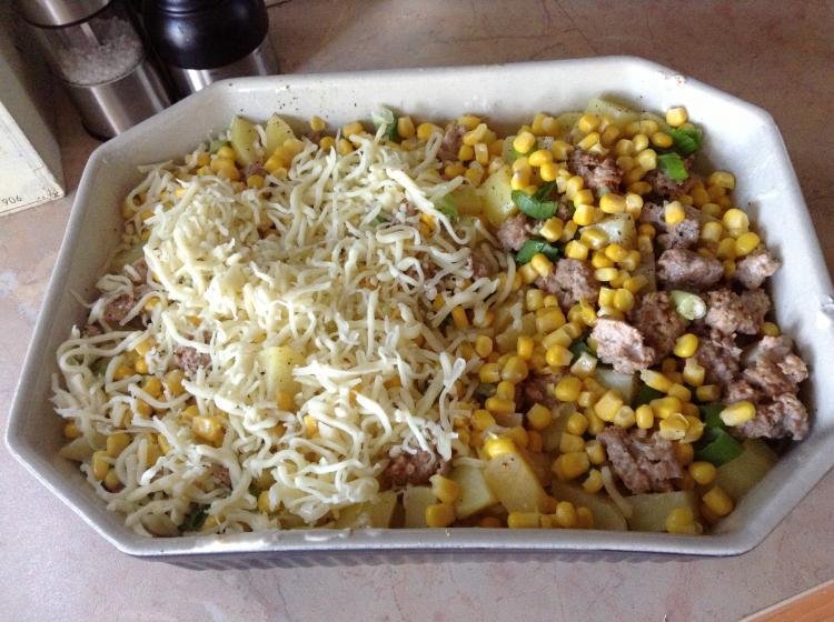 Rezept Kartoffel Hackfleisch kartoffel hackfleisch mais auflauf ein kochmeister rezept