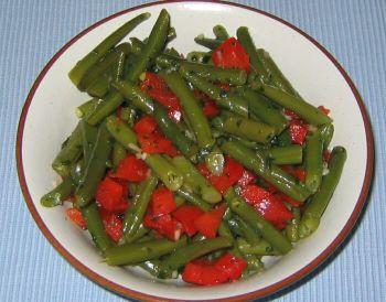 Salat bohnen paprika