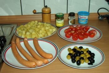warmer kartoffelsalat mit dill und oliven ein kochmeister rezept. Black Bedroom Furniture Sets. Home Design Ideas